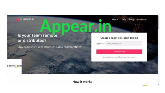 APPEAR.IN per condividere audio video e schermo