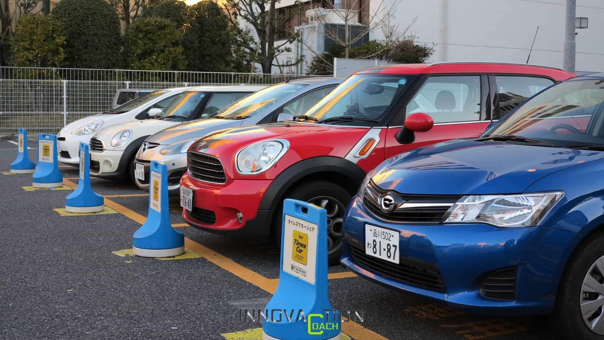 In Giappone utilizzano il car-sharing, senza guidare le auto.